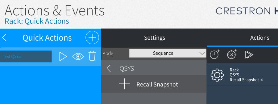 Sequences recall snapshot
