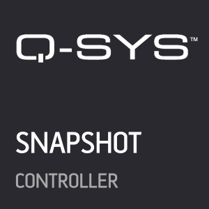 Qsys Snapshots Crestron Home